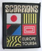 Scorpions - 'Europe Tour 84' Woven Patch